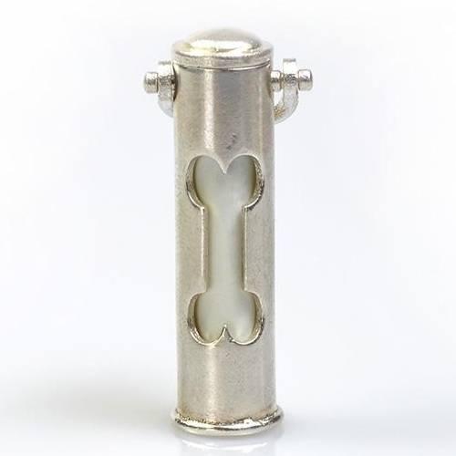 Dog Bone Pet Cremation Keychain Urn