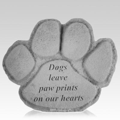 Dog Paw Garden Stone