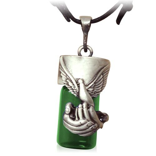 Dove Green Cremation Necklace