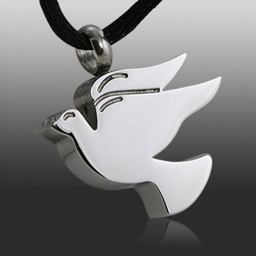 Doves Cremation Necklace