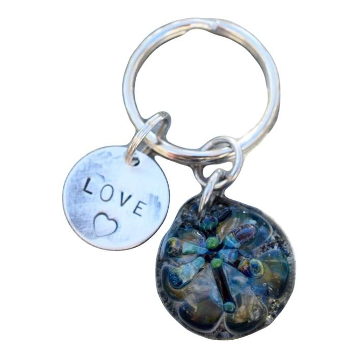 Dragonfly Sterling Cremation Ash Keychain