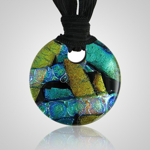 Golden Green Embrace Ash Pendant