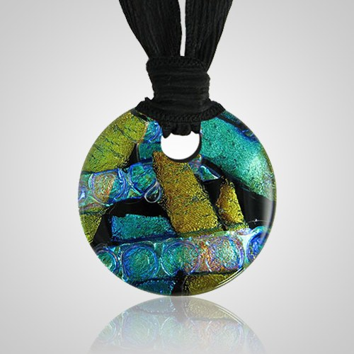 Golden Green Embrace Small Ash Pendant