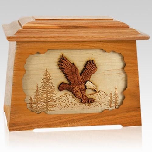 Eagle Mahogany Aristocrat Cremation Urn