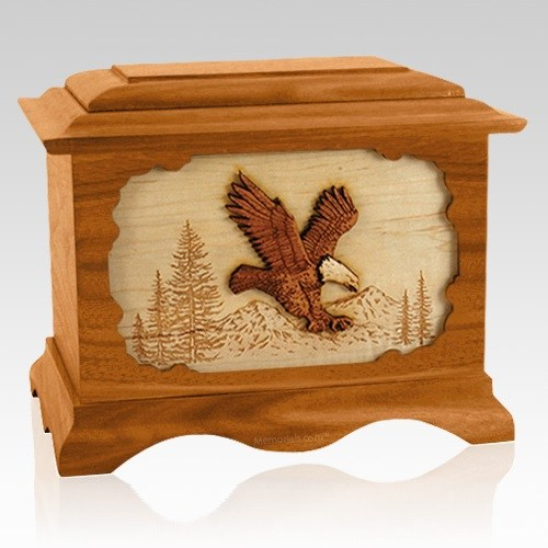 Eagle Mahogany Cremation Urn