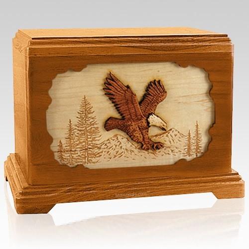 Eagle Mahogany Hampton Cremation Urn