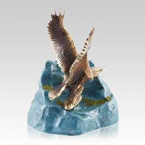 Eagle Small Bronze Cremation Urn