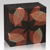 Autumn Leaves Large Biodegradable Urn