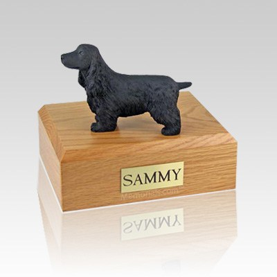 English Cocker Black Large Dog Urn