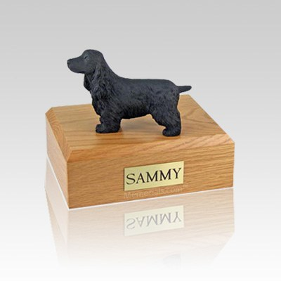 English Cocker Black Medium Dog Urn