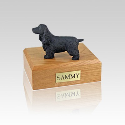 English Cocker Black Small Dog Urn
