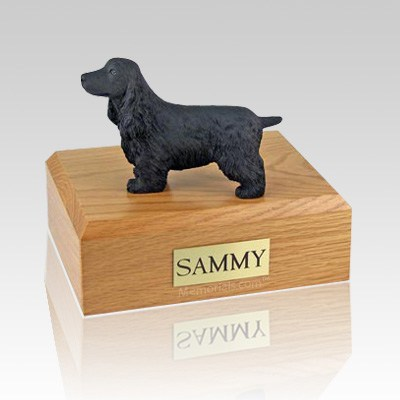 English Cocker Black X Large Dog Urn