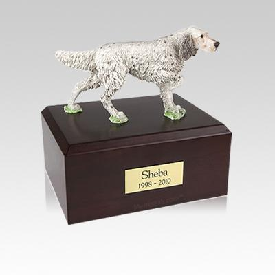 English Setter Standing Small Dog Urn