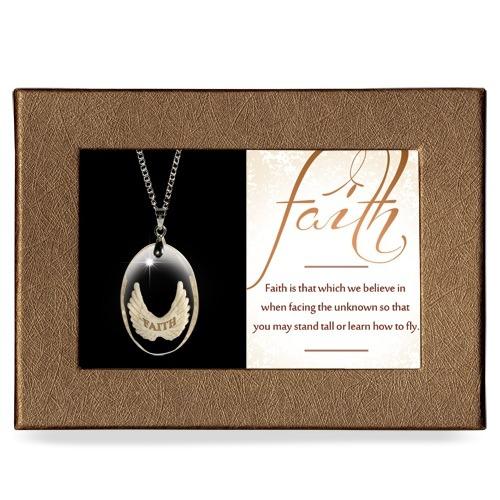 Faith Gift Boxed Angel Pendant