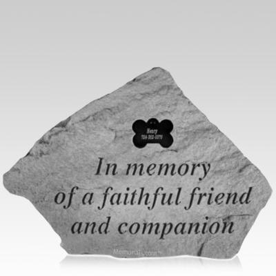 Faithful Companion Memory Stone