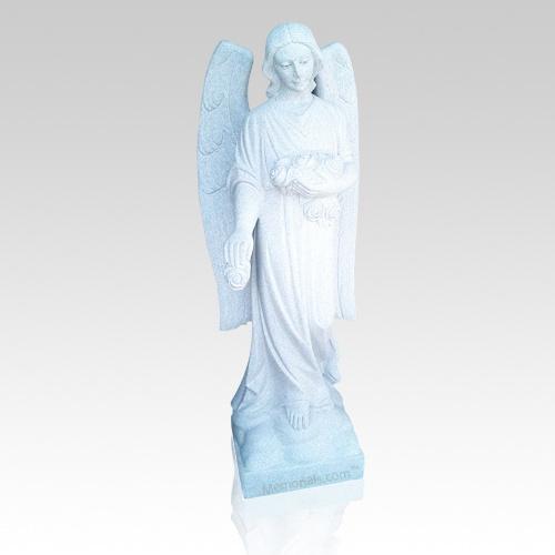 Flower Angel Granite Statue