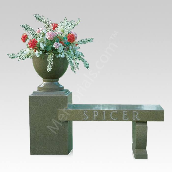 Flower Resting Cemetery Bench