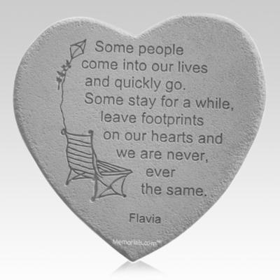 Footprints Heart Rock