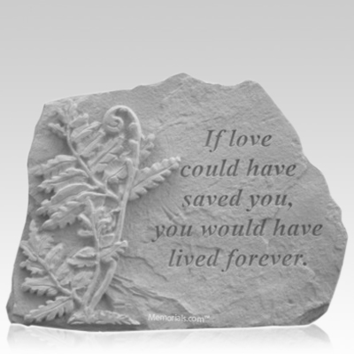 Forever Fern Memorial Stone