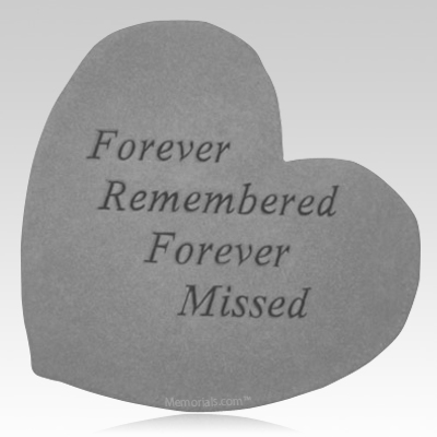 Forever Remembered Heart Stone