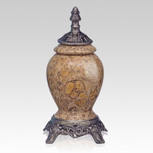 Fossil Stone Pewter Medium Urn