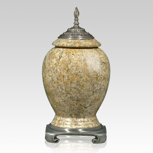 Fossil Stone Pewter Urn