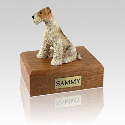 Fox Terrier Large Dog Urn