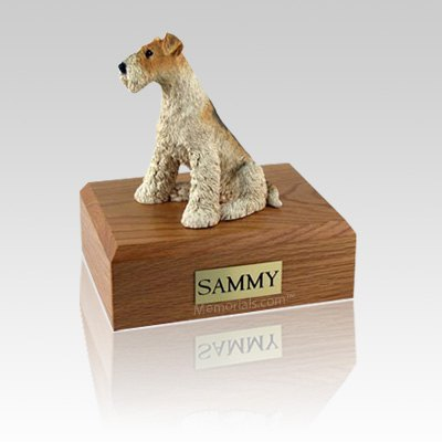 Fox Terrier Medium Dog Urn