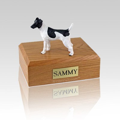 Fox Terrier Smooth Black & White Small Dog Urn