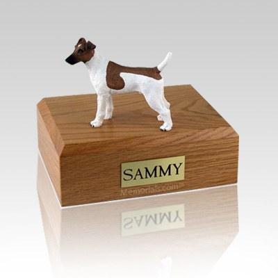 Fox Terrier Smooth Brown & White Medium Dog Urn
