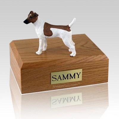 Fox Terrier Smooth Brown & White X Large Dog Urn