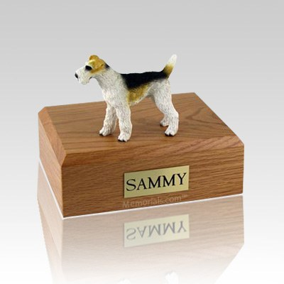 Fox Terrier  Wire Haired Large Dog Urn