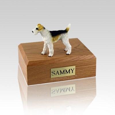 Fox Terrier  Wire Haired Medium Dog Urn