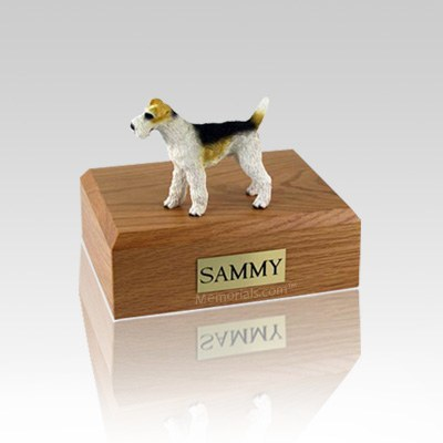 Fox Terrier  Wire Haired Small Dog Urn