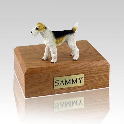 Fox Terrier  Wire Haired X Large Dog Urn
