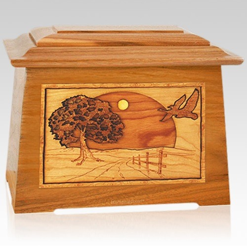 Geese Mahogany Aristocrat Cremation Urn