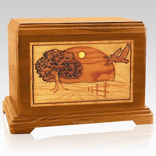 Geese Mahogany Hampton Cremation Urn