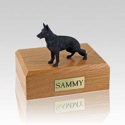German Shepherd Black Standing Large Dog Urn