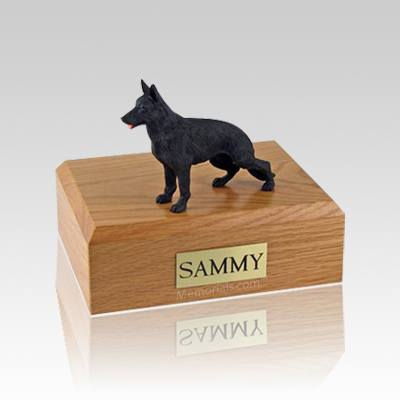 German Shepherd Black Standing Medium Dog Urn