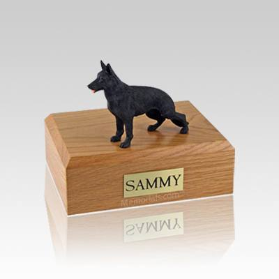 German Shepherd Black Standing Small Dog Urn