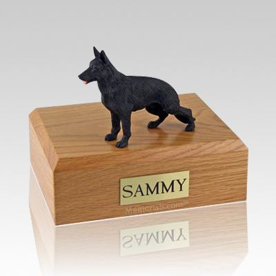 German Shepherd Black Standing X Large Dog Urn