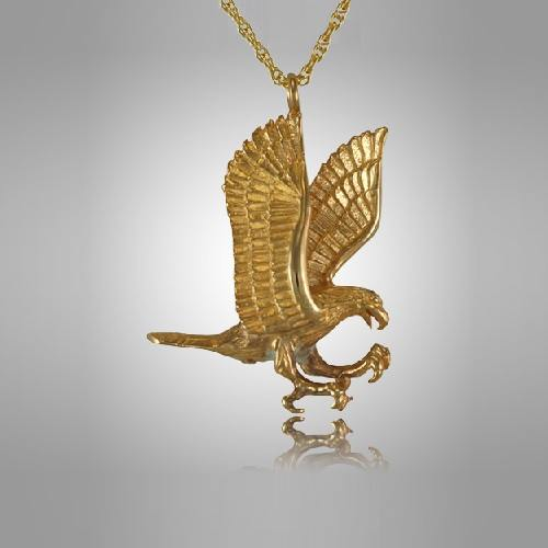 Gliding Eagle Cremation Jewelry IV