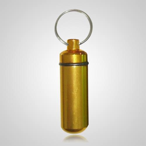 Gold Cremation Keychain