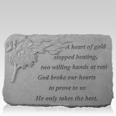 Gold Nest Memorial Stone