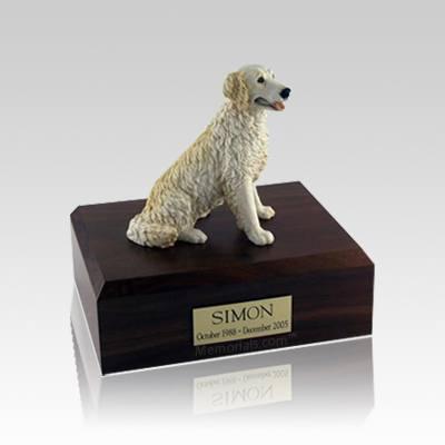 Golden Retriever Blond Small Dog Urn