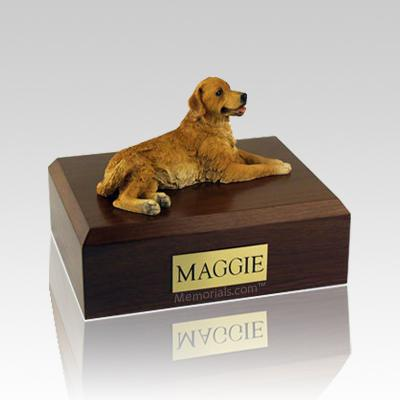 Golden Retriever Laying Large Dog Urn