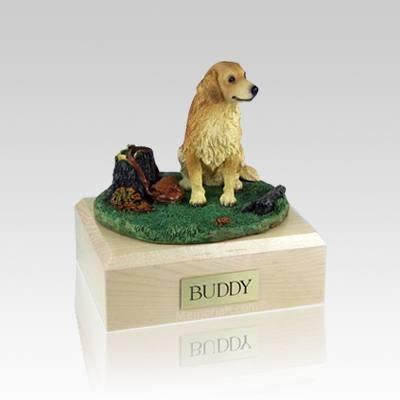 Golden Retriever With Stump Medium Dog Urn