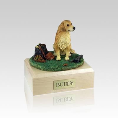 Golden Retriever With Stump Small Dog Urn