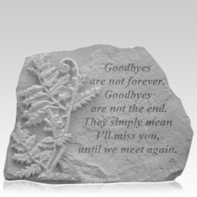 Goodbyes Fern Memorial Stone