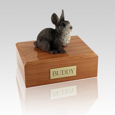 Gray Large Bunny Cremation Urn
